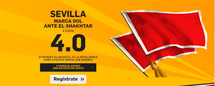 Sevilla marca gol ante el Shakhtar