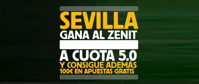 Apuesta con Betfair en el partido Sevilla - Zenit