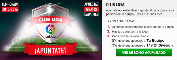Nueva promoción de apuestas Club Liga 2015/16