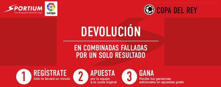 Nueva promoción Sportium para los partidos de la Copa del Rey