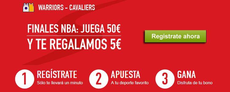 Apuesta 50€ durante las Finales de la NBA y Sportium te regala 5€