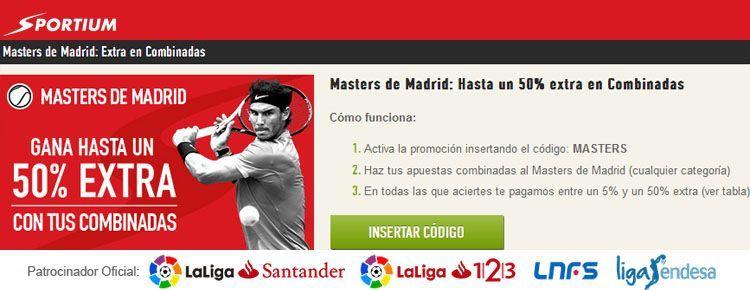 Apuesta con Sportium en el Masters de Madrid 2017