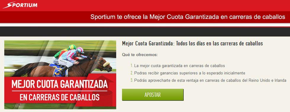 Sportium te ofrece la Mejor Cuota Garantizada en carreras de caballos