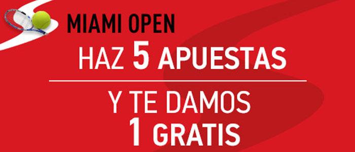 Haz 5 apuestas en el Open de Miami y recibes una apuesta gratis