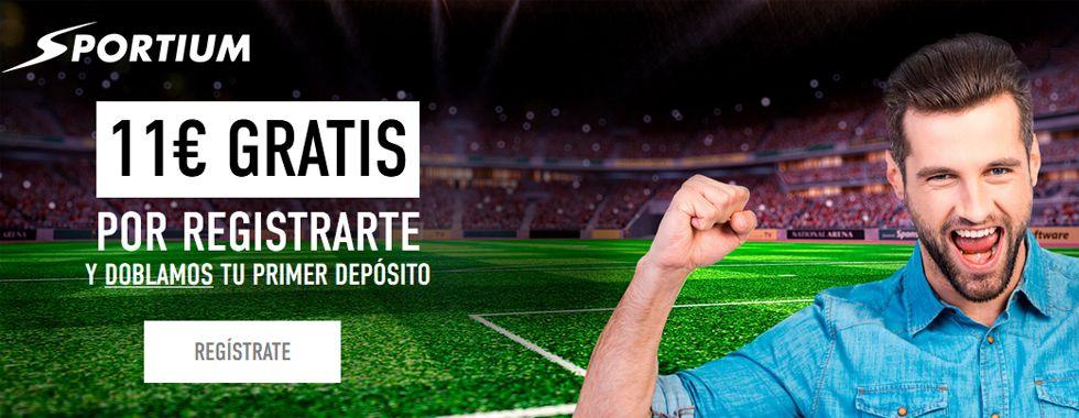Consigue 11 euros sin depósito con Sportium