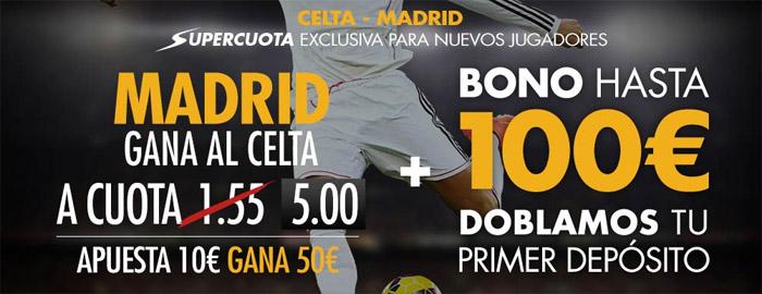 Supercuota Sportium por la victoria de Real Madrid ante el Celta
