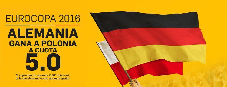 Supercuota por la victoria de Alemania ante Polonia