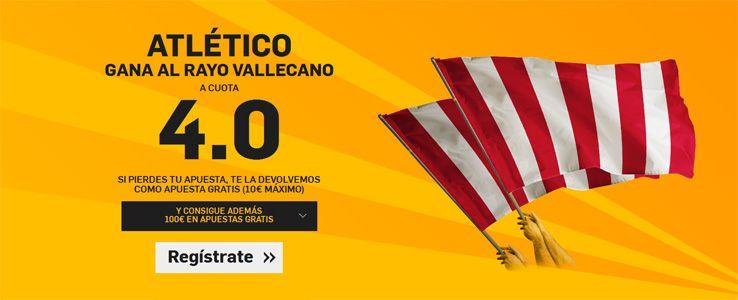Supercuota por la victoria del Atlético ante el Rayo Vallecano