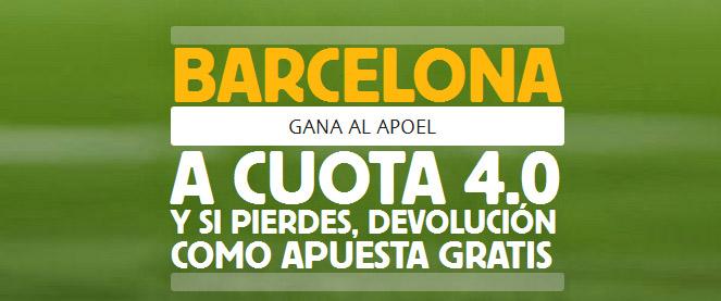 Nueva Súper Cuota de 4.0 en el partido APOEL - Barcelona