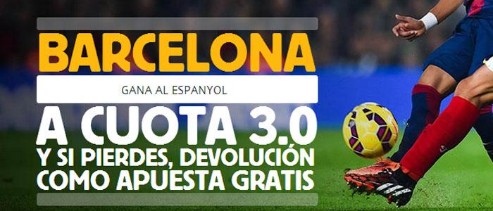 Súper Cuota 3.0 por la victoria de Barcelona ante Espanyol
