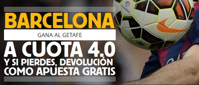 Apuesta con Betfair por la victoria de Barcelona ante Getafe