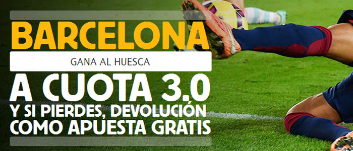 Apuesta con Betfair por la victoria de Barcelona ante Huesca