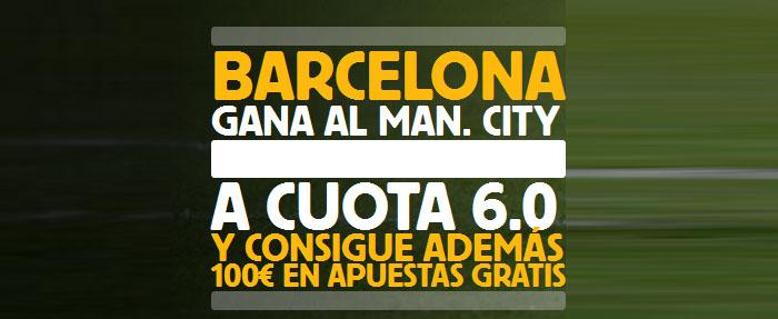 Supercuota Betfair de 6.0 por la victoria de Barcelona contra Man. City