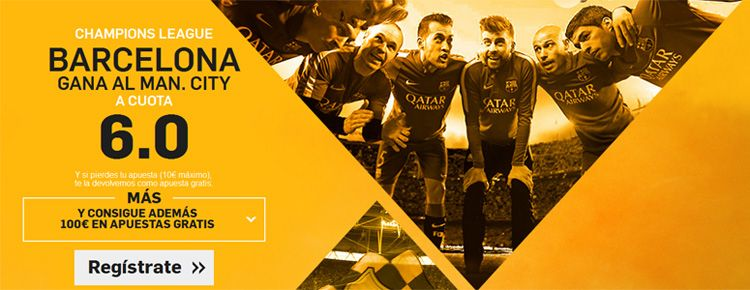 Supercuota por la victoria de Barcelona ante el Manchester City