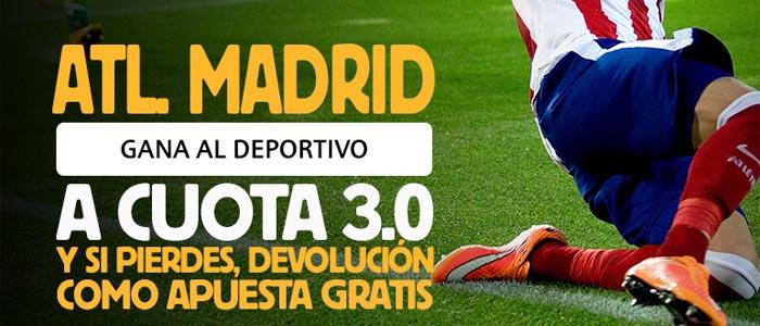 Apuesta por la victoria del Atlético contra Deportivo