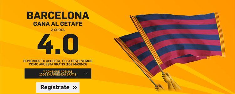 Supercuota por la victoria de Barcelona ante el Getafe