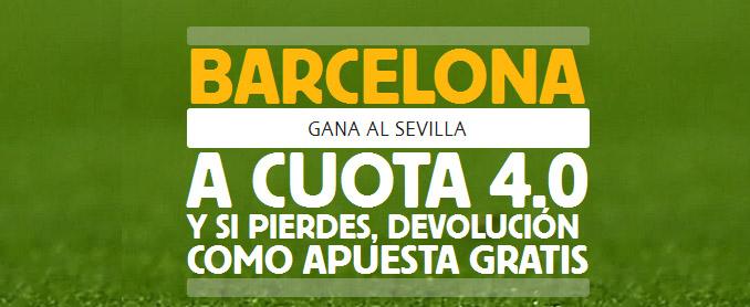 Apuesta con Betfair por la victoria de Barcelona contra Sevilla