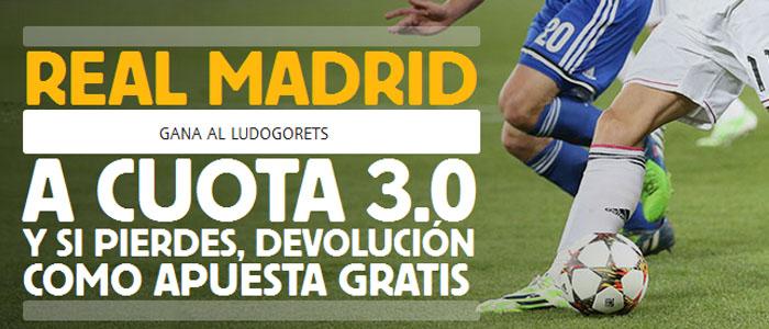 Super Cuota de Betfair en el partido Real Madrid - Ludogorets