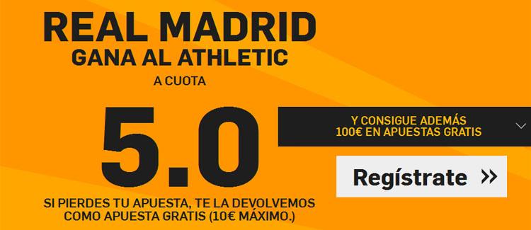 Supercuota de 5.0 por la victoria de Real Madrid ante el Athletic