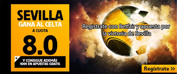 Supercuota Betfair en el partido Celta de Vigo - Sevilla