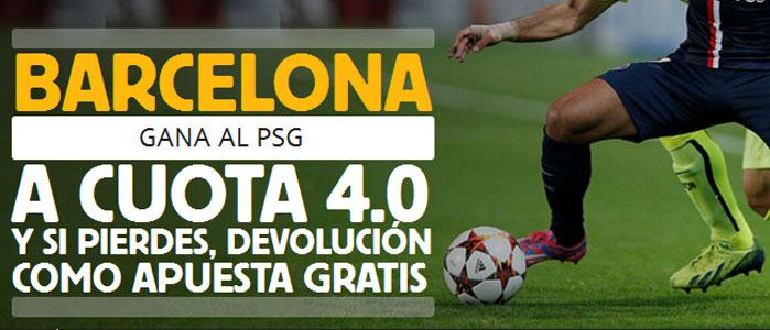 Apuesta a una cuota de 4.0 por la victoria de Barcelona contra PSG