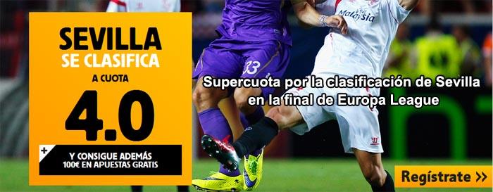 Supercuota por la clasificación de Sevilla en la final de Europa League