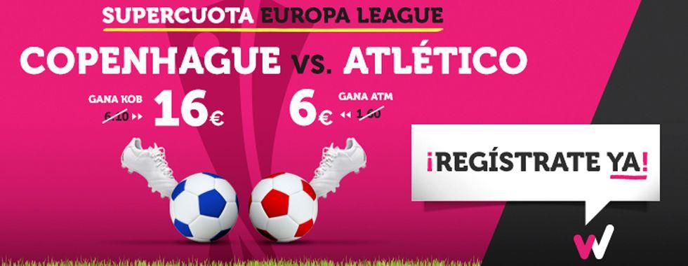 Supercuota Europa League: Copenhague - Atlético