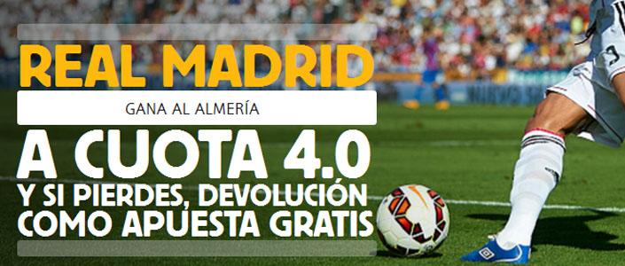Súper Cuota de Betfair por la victoria de Real Madrid contra Almeria