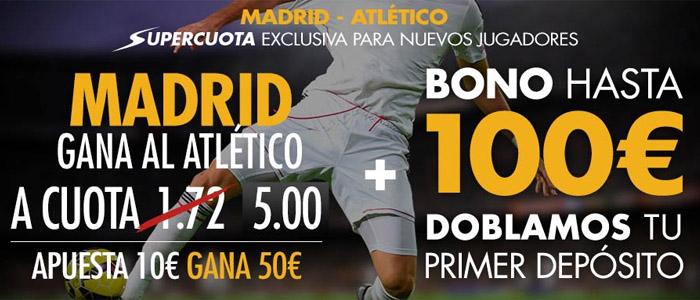 Supercuota Sportium para el partido Real Madrid - Atlético de Madrid