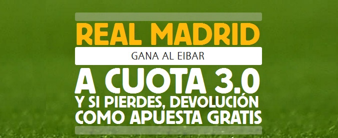 Supercuota de Betfair en el partido Real Madrid - Eibar