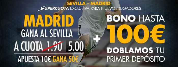 Apuesta con Sportium por la victoria de Real Madrid contra Sevilla