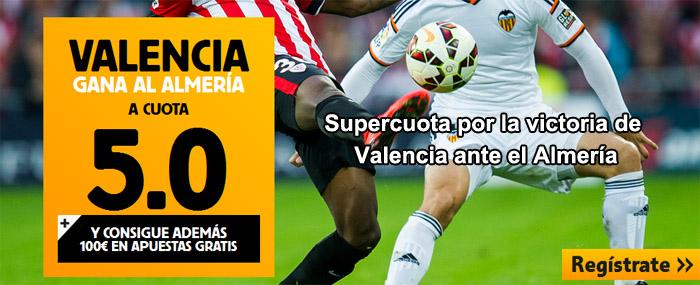 Supercuota por la victoria de Valencia ante el Almería