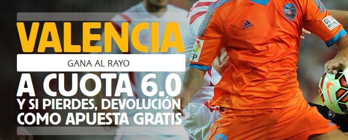 Sùper Cuota Betfair de 6.0 por la victoria de Valencia contra Rayo Vallecano