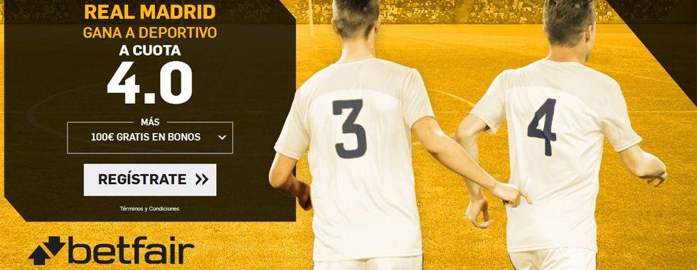 Supercuota por la victoria del Madrid ante el Deportivo