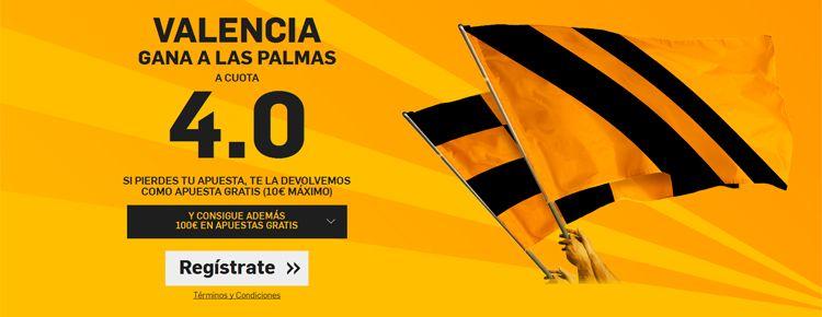 Súper Cuota – Valencia le Gana a Las Palmas a Cuota 4.0