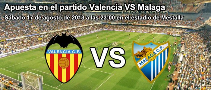 Apuesta en el partido Valencia VS Malaga