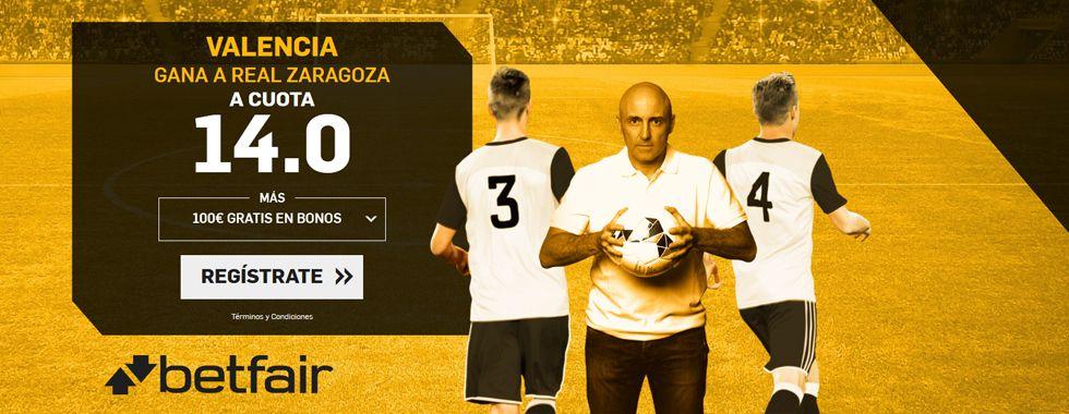 Previa y apuestas Copa del Rey: Valencia - Zaragoza