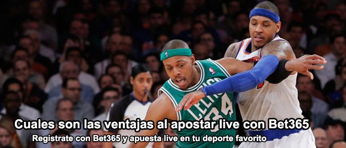 Ventajas al apostar live con Bet365