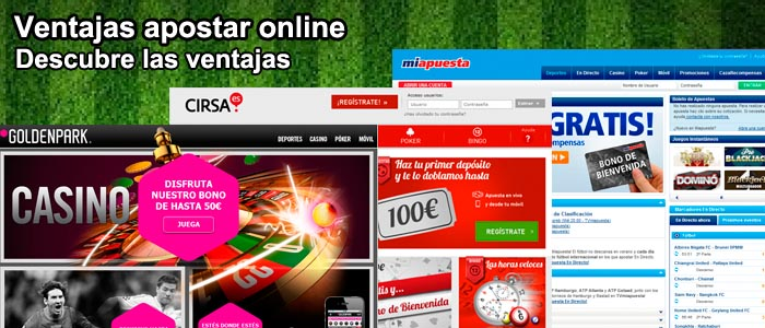 Ventajas apostar online
