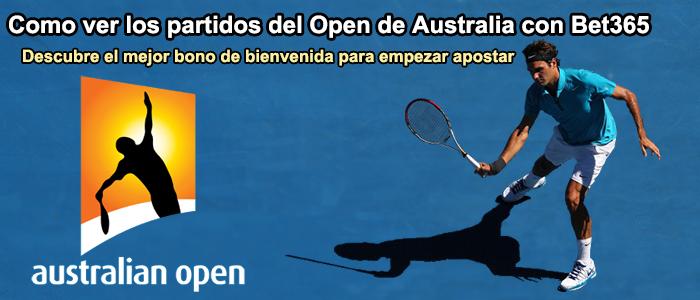 Como ver los partidos del Open de Australia con Bet365?