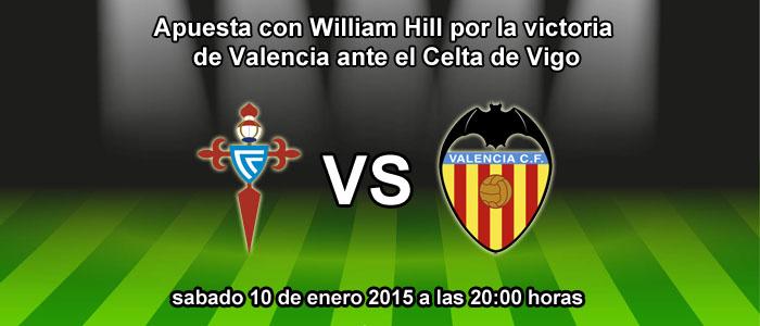 Apuesta con William Hill por la victoria de Valencia ante el Celta de Vigo