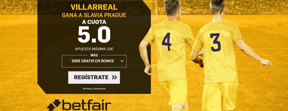 Supercuota por la victoria del Villarreal ante el Slavia Prague