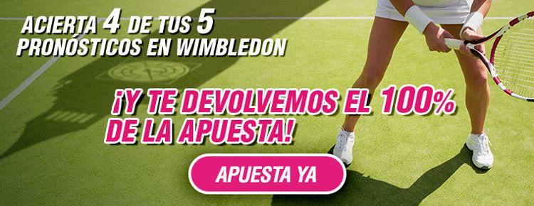 Apuesta con Wanabet en los partidos de Wimbledon 2016